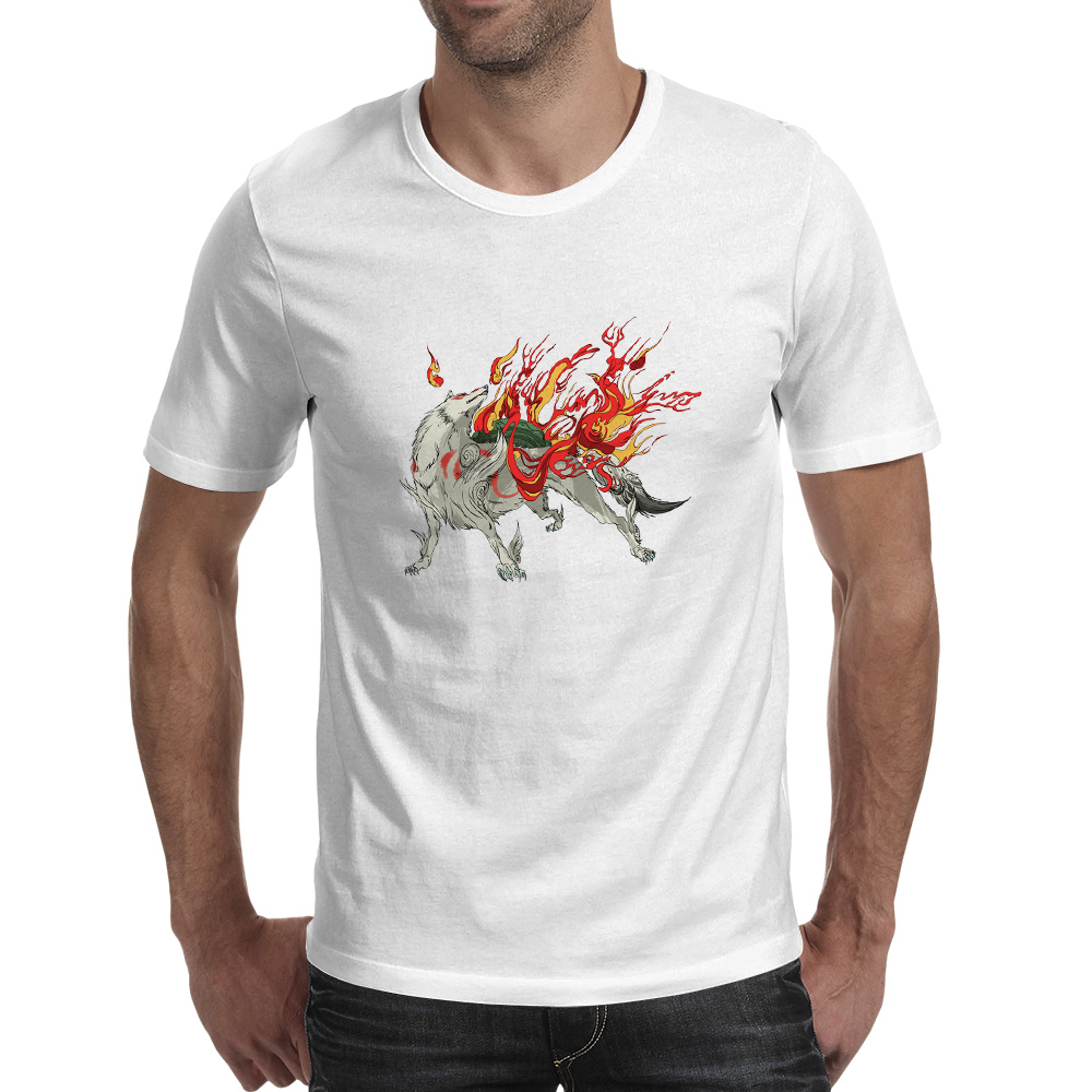 Okami Amaterasu Ammako Ammy T Shirt Japanese Video Game Fashion Brand Casual T-shirt Anime Design Funny Unisex Tee