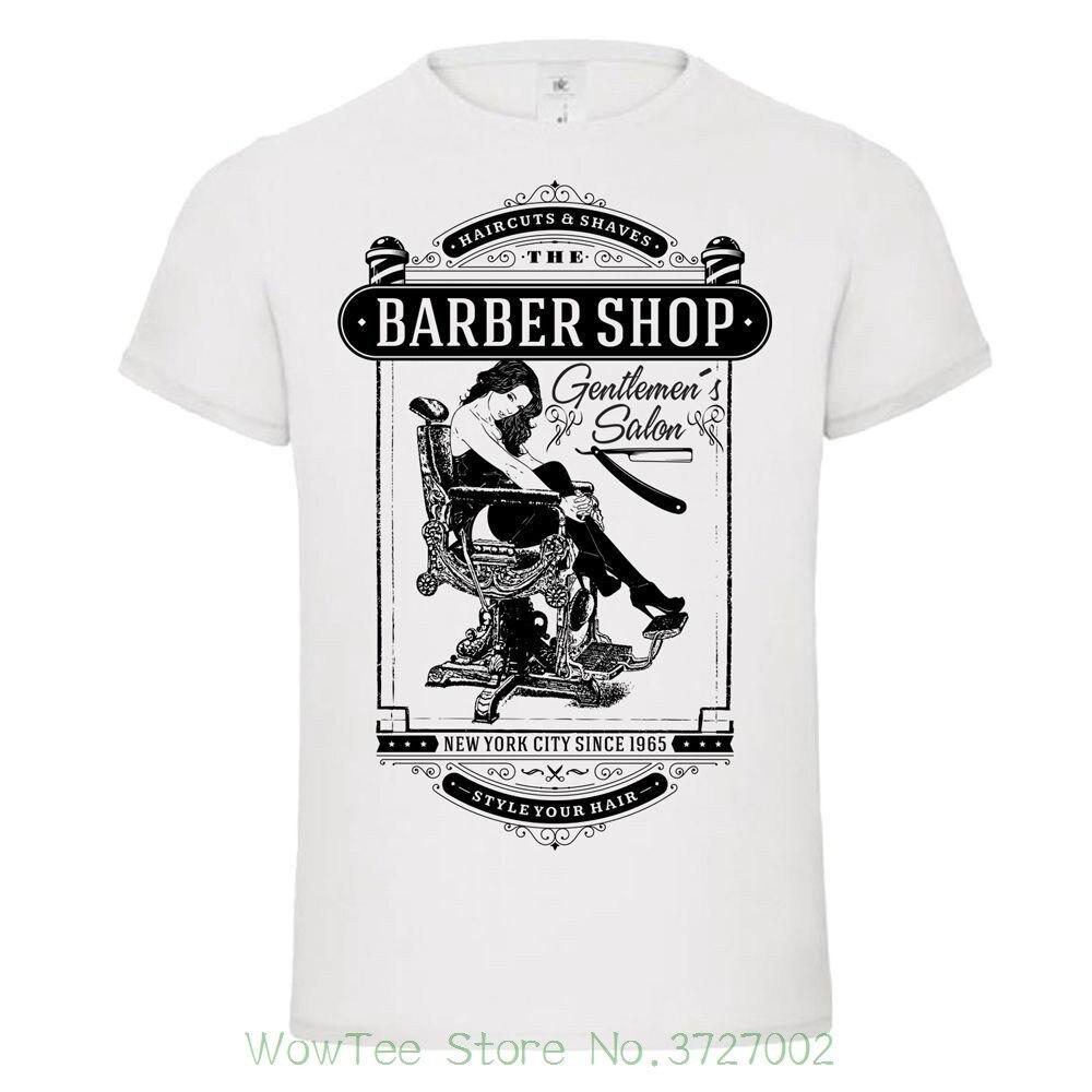 Barber Shop Gentlemens Club Haircuts Cut Throat Shave Beard Tshirt Tee Tee Shirt Unisex More Size And Colors