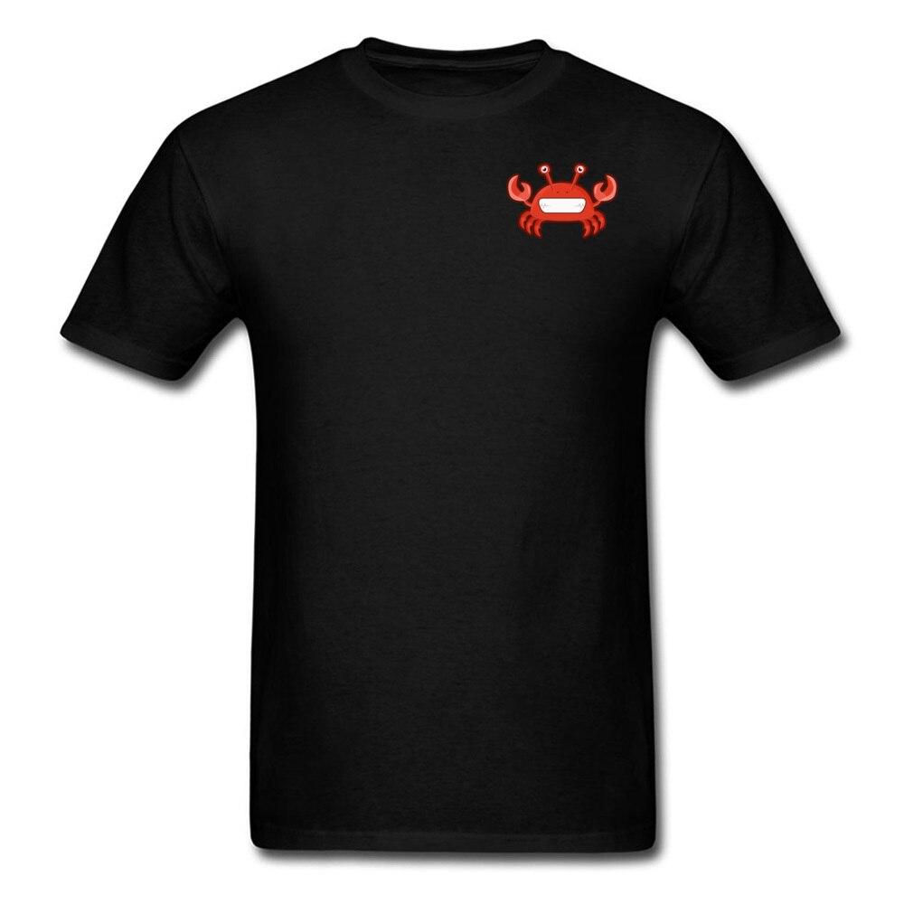 T Shirt Kawaii Crab Tops Shirt Summer Autumn 2018 Street Short Sleeve Pure Cotton Crewneck Men Tshirts Street Drop Shipping Kawaii Crab Chest black