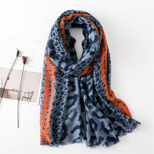 Leopard Shaw Ladies Sexy Leopard Shawl Scarf with fringe colorful Dot print Autumn Winter Wraps green red yellow Scarves pasmina недорого