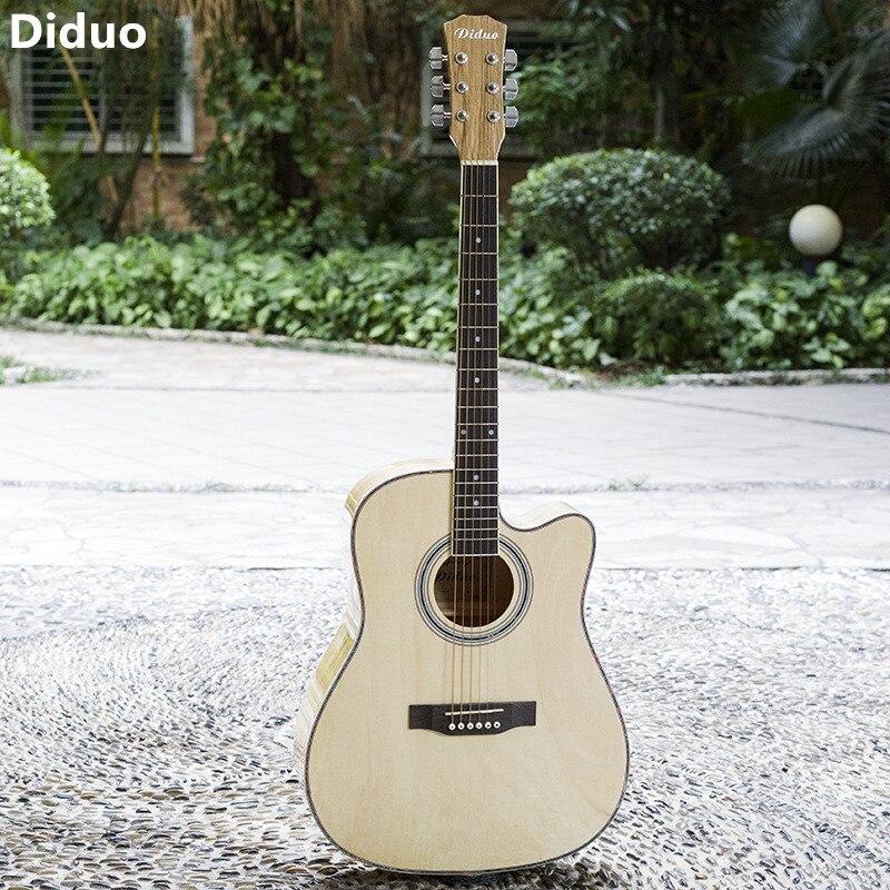 Diduo 41 pouces guitare Folk guitare acoustique exécution exquise aspect magnifique adapté à tous les débutants apprenant