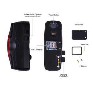 Image 2 - Bicycle GPS Tracker Bike Taillight 2600mAh Battery Waterproof IPX7 Free Web APP Bike GPS Locator T19 Watchdog CPU Anti theft