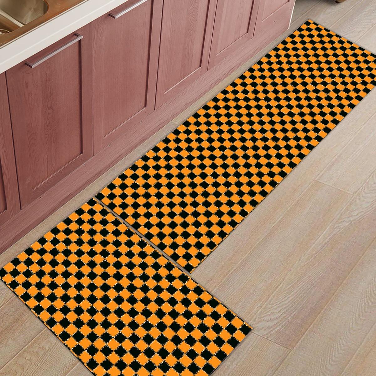 Treillis ethnique moderne 2 pièces tapis de cuisine paillassons pour entrée salle de bain accessoires Set chaussures de démarrage grattoir tapis de sol