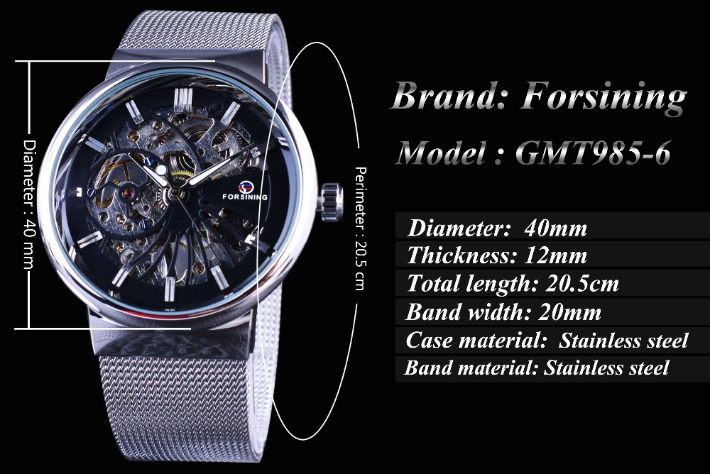 Forsining 2017 Μόδα Casual Ουδέτερη Σχεδίαση - Ανδρικά ρολόγια - Φωτογραφία 4