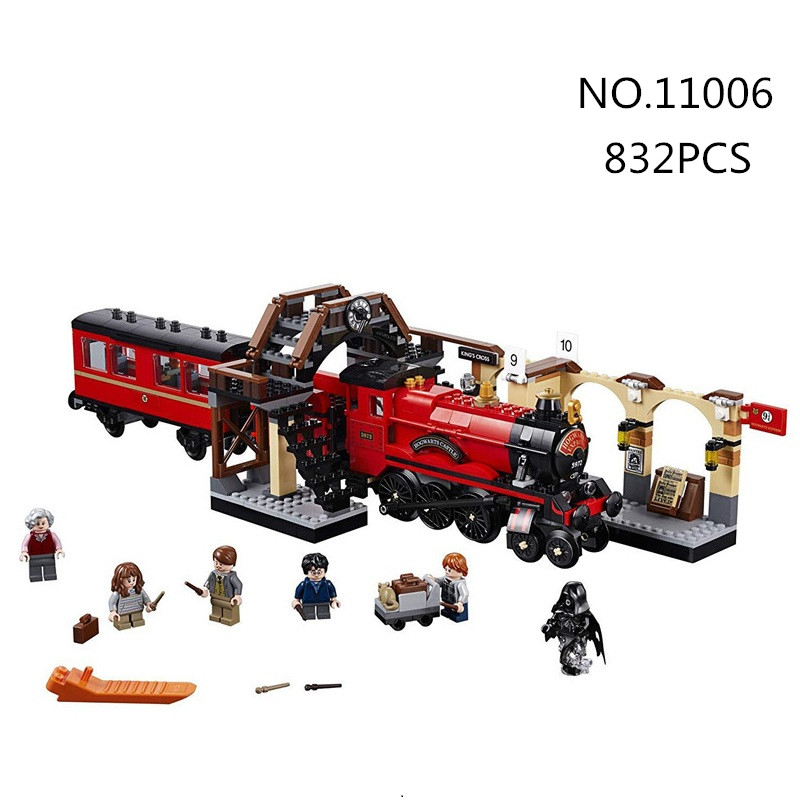 bela 11006 832pcs Movie Harry series Hogwarts Express Train Building Blocks bricks baby toys children chrismas gift