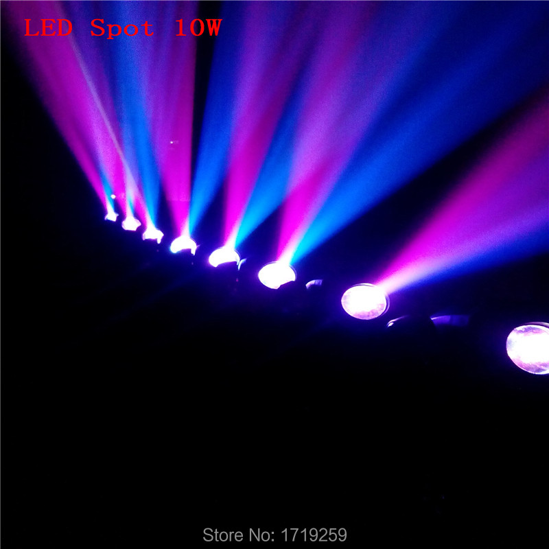 Fast Shipping DMX Stage Spot Moving 8/11 Channels LED 10W 7 colors Moving Head 7 differnt spots Light
