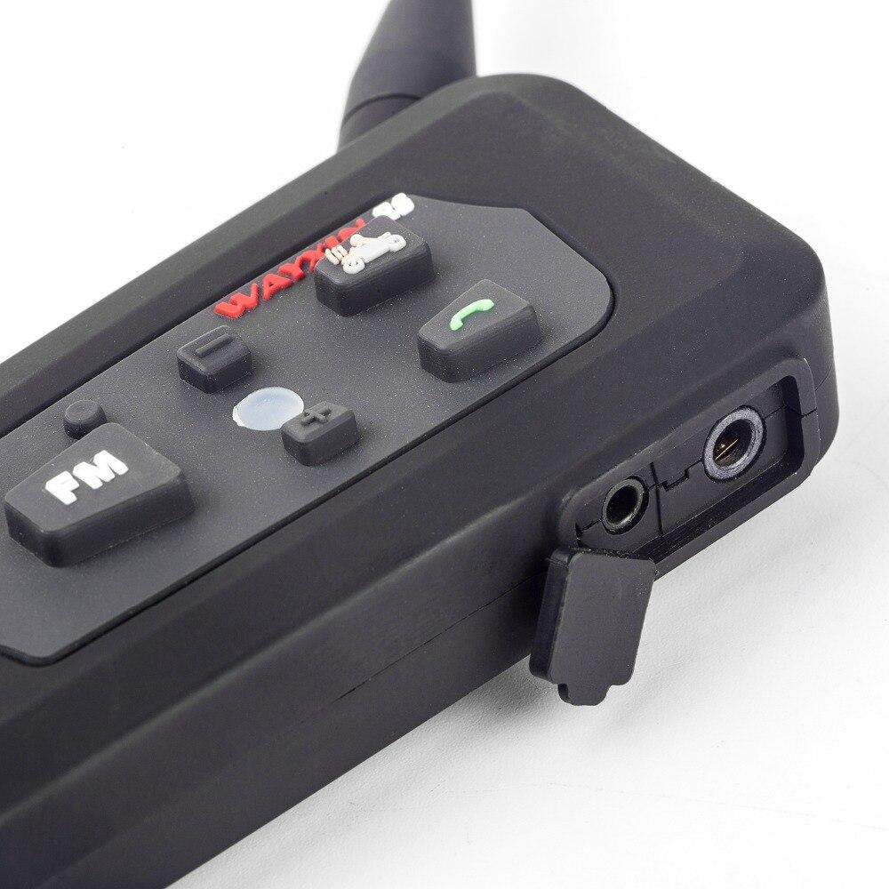 2PCS 1200M Bluetooth intercom Motorcycle Helmet Headsets Intercom for 6 riders BT Wireless intercomunicador Interphone MP3/FM