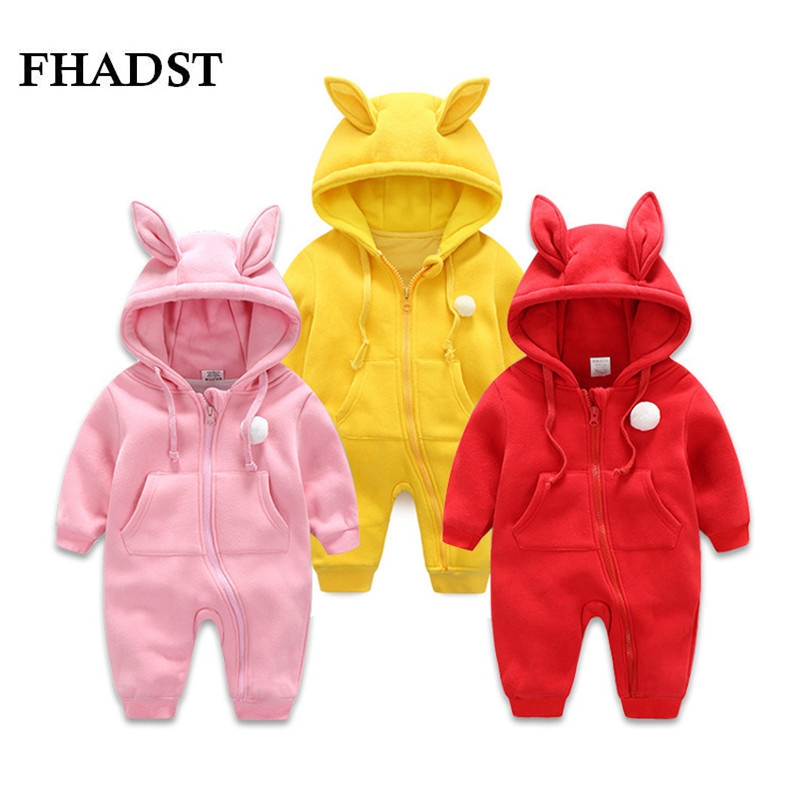 FHADST New Spring Autumn Baby Clothes Newborn Romper Costume Baby Girls Clothes Baby Rompers Jumpsuit Warm Long Sleeve Clothing baby hoodies newborn rompers boys clothes for autumn magical hooded romper long sleeve jumpsuit kids costumes girls clothing
