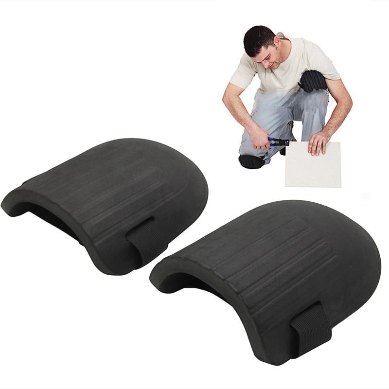 1Pair Black EVA Lightweight Foam Flexible Soft Foam Kneepads Protective Sport Work Gardening Builder Machine Washable