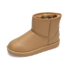 Genuine leather boots women Women's ugs fur boots Shoes Bottine femme Waterproof Winter footwear Ugi women Genuine leather 2017