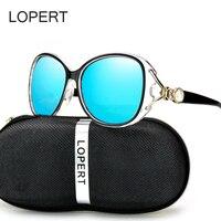 LOPERT Luxury Brand Design Polarized Sunglasses Women Ladies Elegant Pearl Cat Eye Sun Glasses Female Oculos
