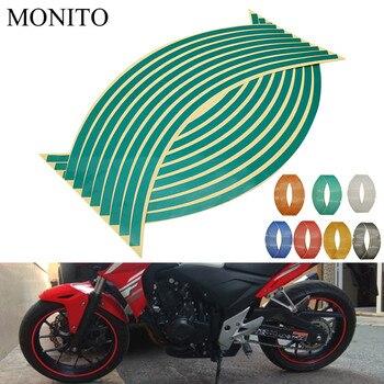 Наклейка на колесо мотоцикла 16 17 18 Светоотражающая наклейка на обод лента для KAWASAKI Z750S Z750 ZX6 ZX9R ZXR400 ZZR600 Z1000 ZX10R