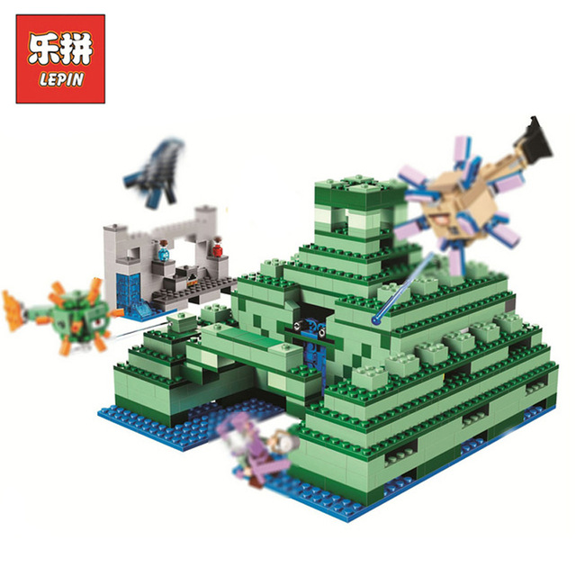 Model building kits Minecraft 828pcs Underwater Temple compatible with lego My World 21136 Blocks Toys hobbies For Children lost temple brothers 2018 05 20t20 00