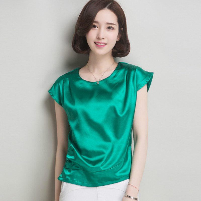 Popular Short Sleeve Silk Blouse-Buy Cheap Short Sleeve Silk ...