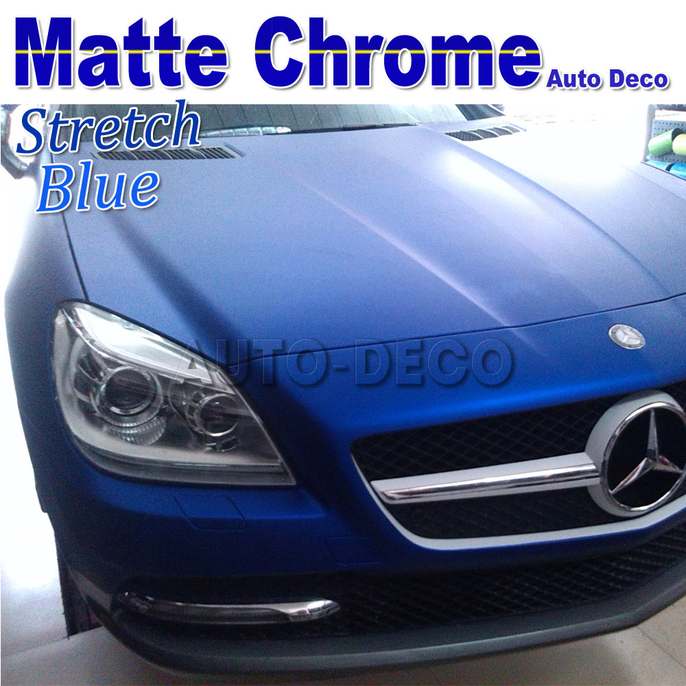 Hot-sale Matallic Blue Car Matte Chrome Vinyl For Car Wrapping Diy Styling Sticker Film FedEx Free Shipping size:1.52*20m/roll quality guarantee silver chrome vinyl film for car wrapping sticker with air bubble free 20m roll