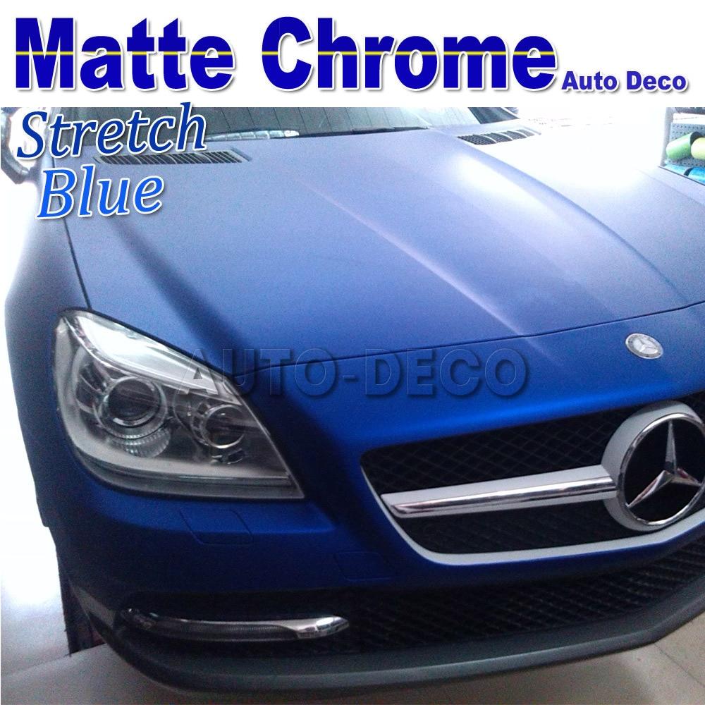 Blue car sticker design - Hot Sale Matallic Blue Car Matte Chrome Vinyl For Car Wrapping Diy Styling Sticker Film