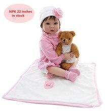 """NPK2017 new handmade rejuvenation doll girl doll 20  """"children toy doll  silicone baby revival ethylene babyre born babies"""