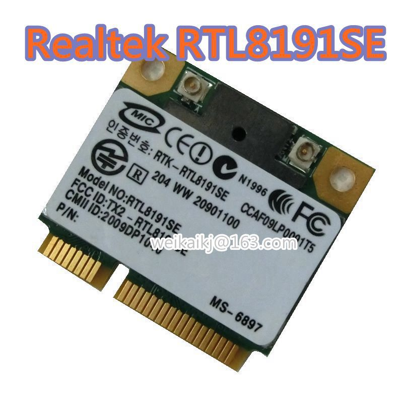 Realtek Rtl8191se Hlaf Mini Pci-e Беспроводная Wlan-карта 802.11b/G/N 2,4 ГГц 150 Мбит/с