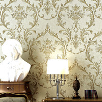 Retro Luxury European Style Damascus Non Woven Wallpaper 3D Deep Embossed Living Room Bedroom TV Background