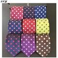 Mens corbatas de seda corbatas de poliéster corbata de lunares de moda hombres de la marca premium lazo ocasional para pañuelo B031