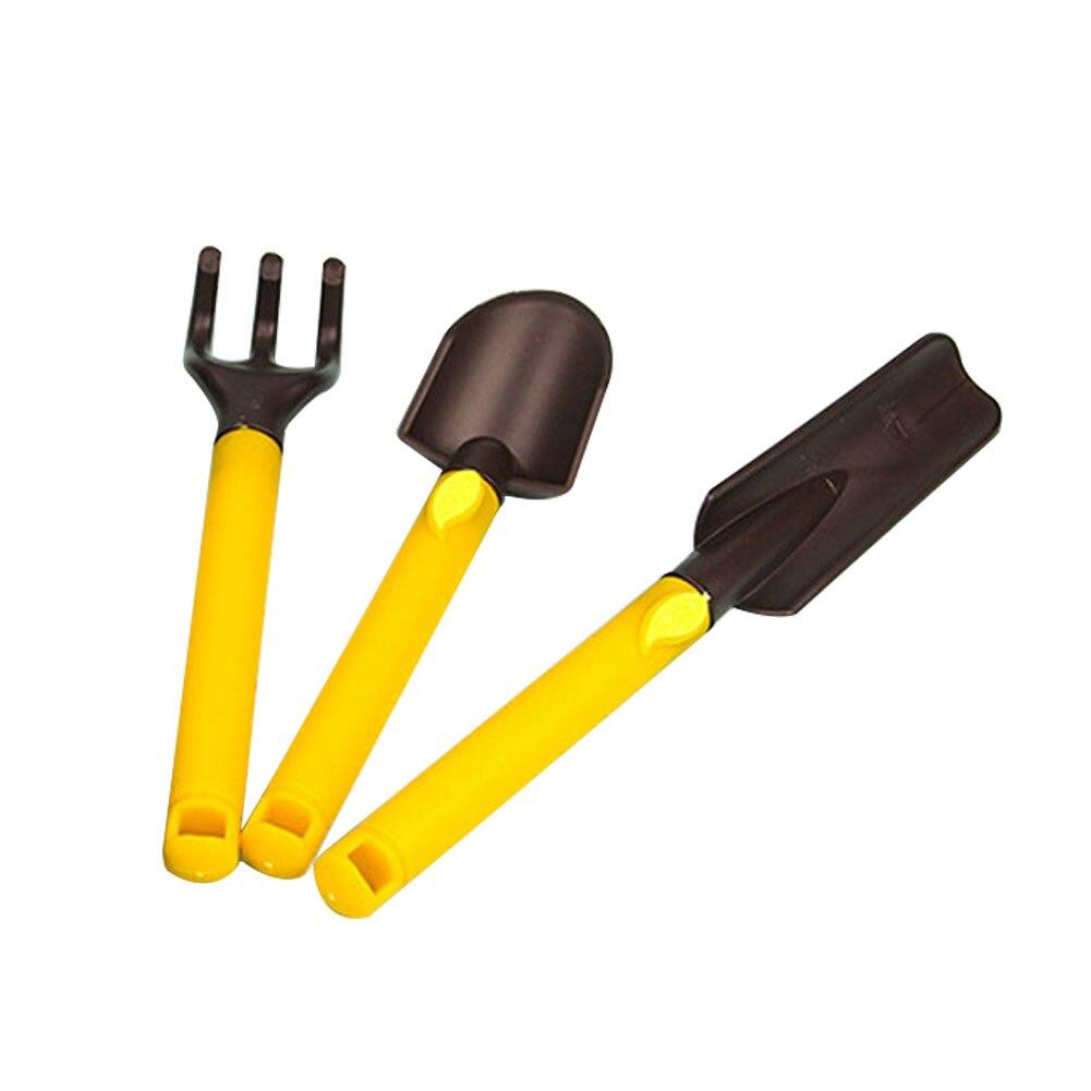 3pcs Kids Gardening Tools Kit Plastic Safe Gardening Tools Trowel Rake Shovel YU-Home