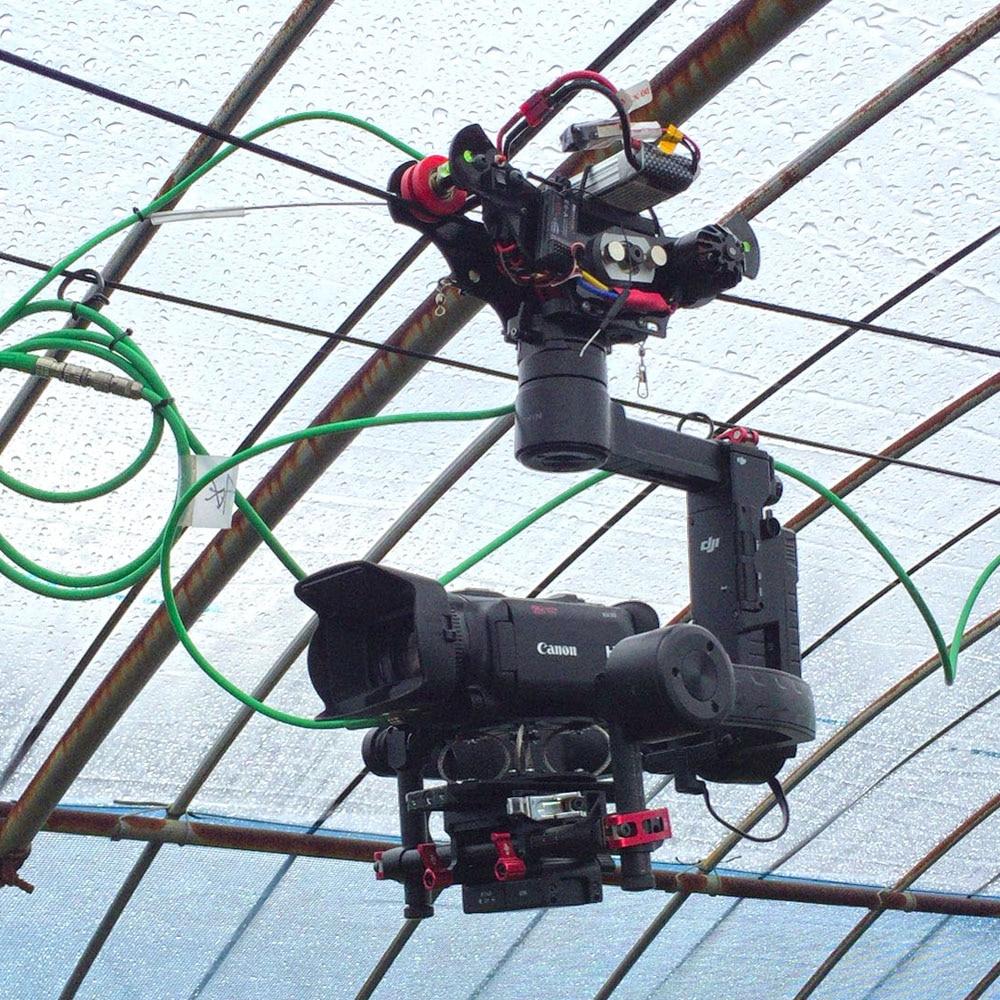 POWERKAM long motorised slider Black T 1.5 osmo cable cam rc shooting equipment for DJI osmo mobile,osmo,osmo+ dji osmo pro raw focus handwheel for osmo pro osmo raw inspire 2 focus controller flip control knob original accessories