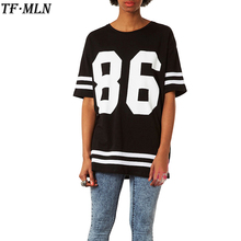 New 2017 Fashion T Shirt Women Half Sleeve Shirt Digital Printing T-shirt Tumblr Summer Baseball T shirt Loose Casual O-neck Tee
