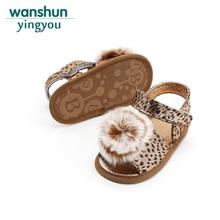3 färger Nya baby tjejer första trollkarl skor mode Leopard print mjuka boll toddler första stegen sommar Anti-slip bebes lovely