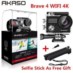 AKASO Brave 4 4K 20MP Wifi kamera akcji ultra hd EIS 30m podwodna wodoodporna kamera zdalna sportowa kamera na kask Extreme