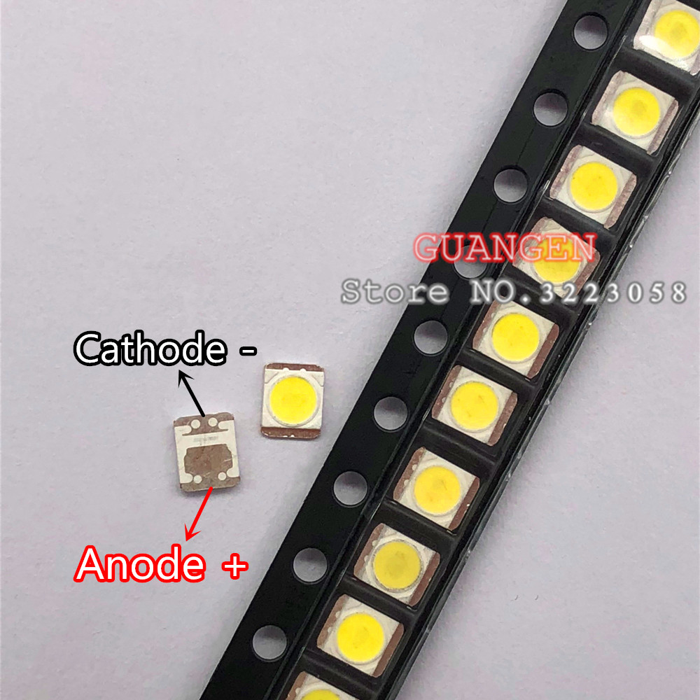 1000pcs Original FOR LG LED LCD TV Backlight Lamp Beads Lens 1W 3v 3528 2835 Cool White Light Bead