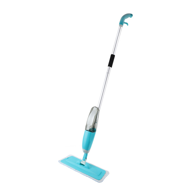 Congis Hot sale Water Spray floor mop with Microfibre cloth replace 2 color flat mops for home cleaning Kitchen Tile clean tools