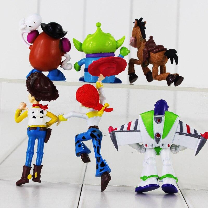 6 pçs lote Alienígena Toy Story Woody Buzz Lightyear Jessie Figura de  Brinquedo Cavalo Bullseye Mr. Potato Head Mini Modelo Animal Boneca para As  Crianças ... bc8db5e6e6a