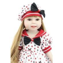 18 Cal/45 cm Marka Lalki Noworodka Zabawki Ręcznie American Girl Pełne Winylu Dzieci Lalki Lifesize Fashion Doll