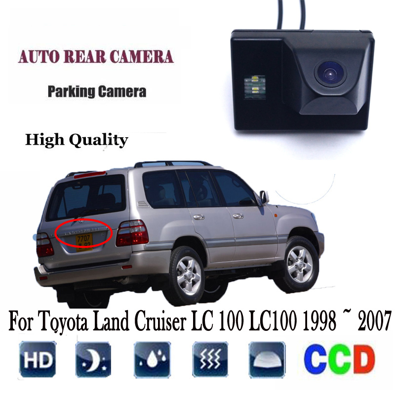 Car Backup Parking Camera For <font><b>Toyota</b></font> Land Cruiser <font><b>LC</b></font> <font><b>100</b></font> LC100 1998 ~ 2007 Rear View Reverse Reverse Camera / Integrated image