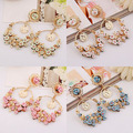 Womens Fashion Flower Dangle Statement Earrings Jewelry Gifts smt102
