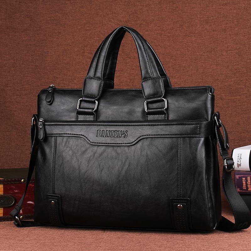 Best buy Men Faux PU Leather Laptop Briefcase Fashion Male Travel Shoulder  Messenger Portfolio Bags Causal Lawer Handbag Bolsa 14 Inch online cheap 5e1477c0e02a9