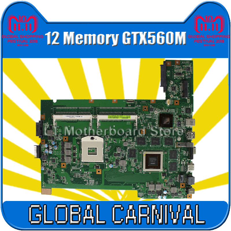 G74SX motherboard GTX560M3D 12 Memory for ASUS G74SX G74S laptop motherboard G74SX mainboard G74SX motherboard test 100% OK все цены