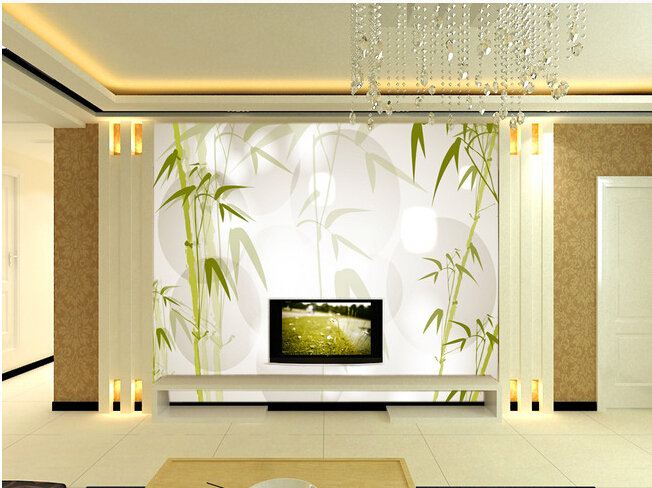 Vinilo papel pintado de bamb compra lotes baratos de for Murales pared baratos