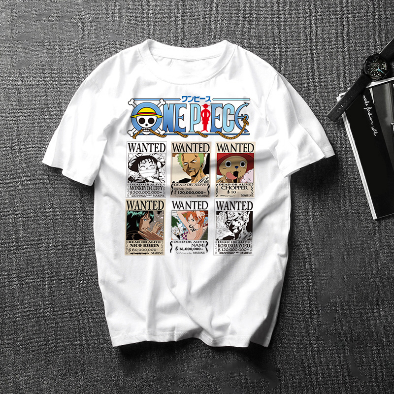 New Japan Anime One Piece Printed Cartoon T Shirt Male One Piece Luffy Zoro Tees Tops Summer Funny Men/Women Harajuku Camisetas