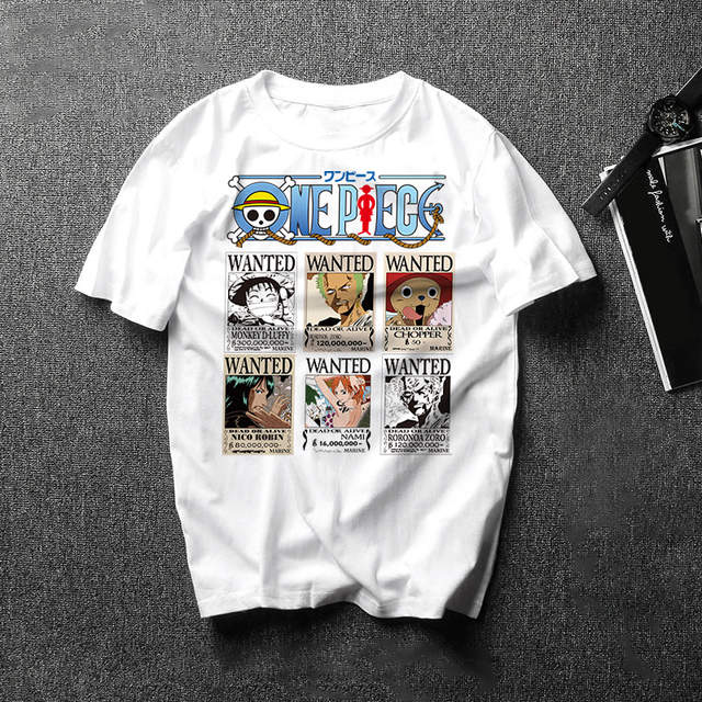 US $3 85 45% OFF|New Japan Anime One Piece Printed Cartoon T Shirt Male One  Piece Luffy Zoro Tees Tops Summer Funny Men/Women Harajuku Camisetas-in