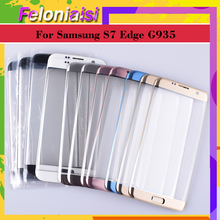 10Pcs/lot For Samsung Galaxy S7 Edge G935 G935F G9350 SM-G935F Touch Screen Front Glass Panel TouchScreen Outer Glass Lens samsung galaxy s7 edge sm g935 32gb золотой