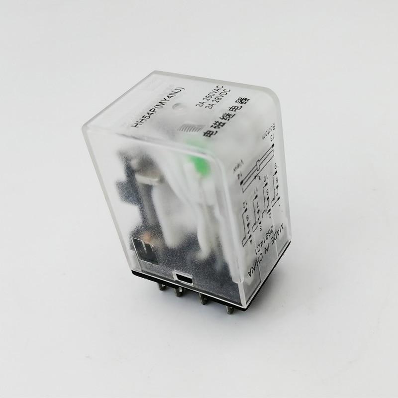 Реле MY4NJ HH54P, микро электромагнитное реле DPDT, светодиодный, 220 в пост. Тока, 12 В, 24 В|Реле|   | АлиЭкспресс