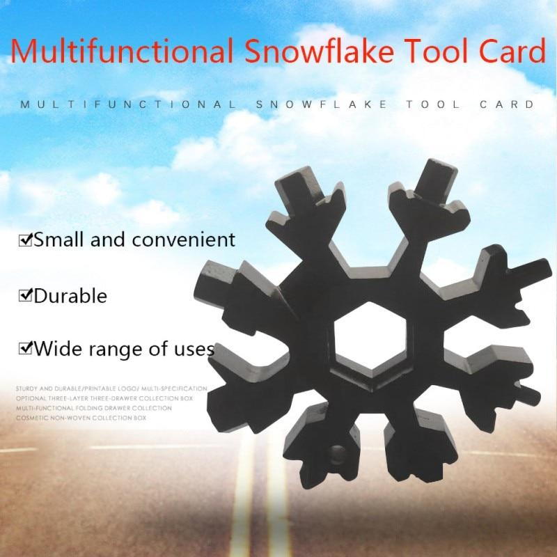 HEXFLEX Snowflake Took Kit Multi-functional Metal Tool Keychain Screwdriver Bottle Opener For Home Outdoor Travel Mini Tool Kit