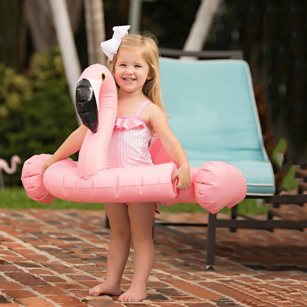 Inflatable Flamingo Mattress Pool Float Circle Swimming Swan Swim Ring Seat Boat Raft Summer Water Fun Children Toys