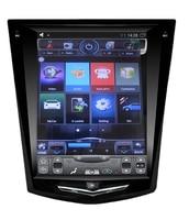 10.4 tesla style vertical screen android 6.0 Quad core Car GPS radio Navigation for cadillac ATS XTS CTS SRX