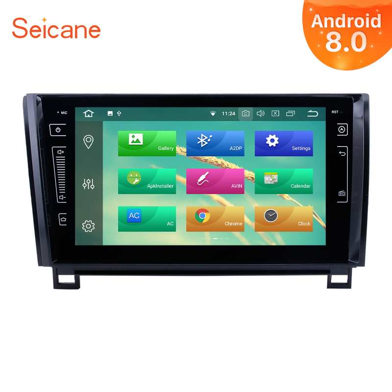 Seicane 2Din Android 8.0 9 Voiture Radio Pour 2006-2015 Toyota Sequoia Tundra Écran Tactile Wifi Multimédia Lecteur Tête unité GPS Navi