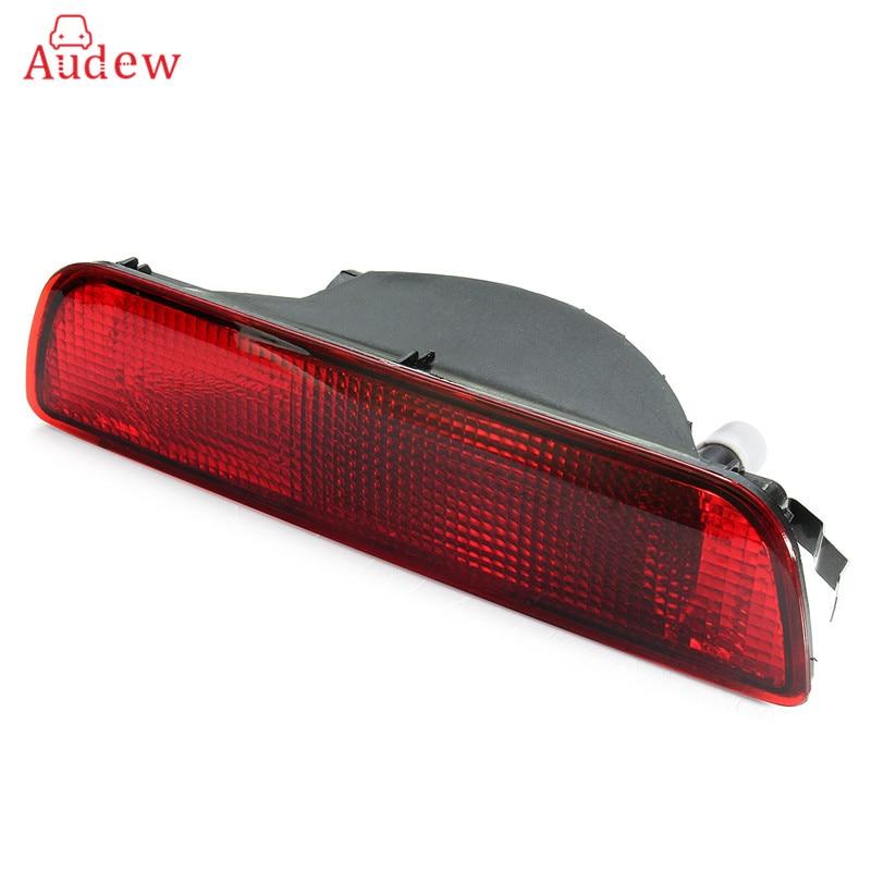 Car Red Rear Central Bumper Reflector Fog Light Lamp Rear Reverse Lights For NISSAN QASHQAI 2007-2013 soarhorse car rear bumper fog lamp reverse brake reflector light for nissan qashqai 2007 2008 2009 2010 2011 2012 2013 2014 2015