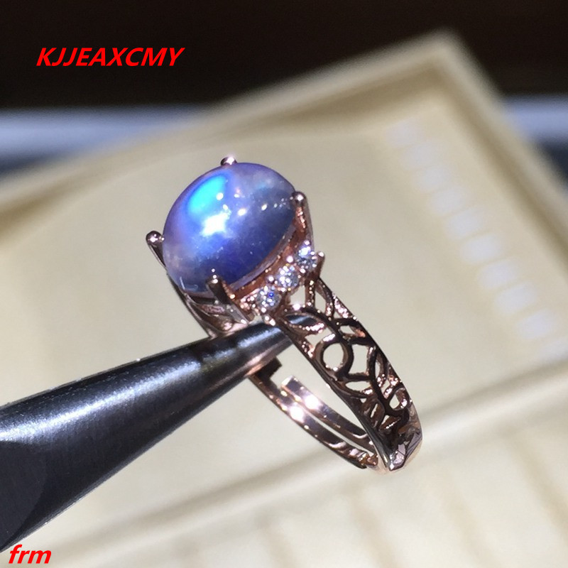 KJJEAXCMY Fine jewelry 925 Sterling Silver with natural stone moonlight ring openingKJJEAXCMY Fine jewelry 925 Sterling Silver with natural stone moonlight ring opening