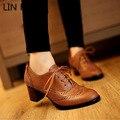 LIN REI Esculpida Estilo Britânico Sapatos Oxford para As Mulheres de Renda Fixa até As Mulheres Oxfords Senhoras Casuais Primavera & Outono Plana Sapatos Lolita
