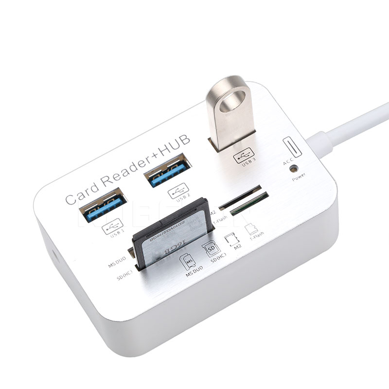 Card Reader Function USB Type-C Combo Hub Plug /& Play 5Gbps USB3.0 Splitter Port USB2.0 High Speed 5-in-1 USB-C Adapter Cable